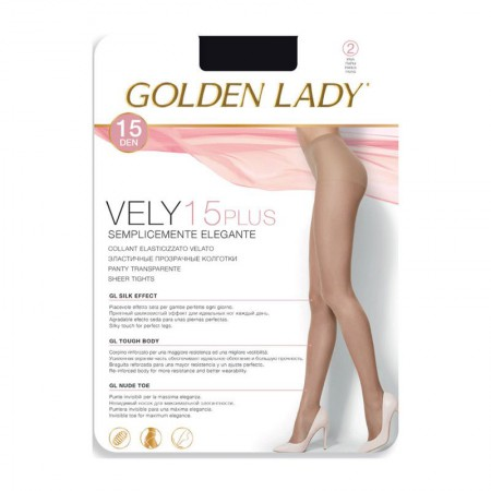 Rajstopy Golden Lady Velly 15 DEN Nero